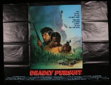 "Deadly Pursuit (1988) British Quad film posters, folded, 30"" x 40"""