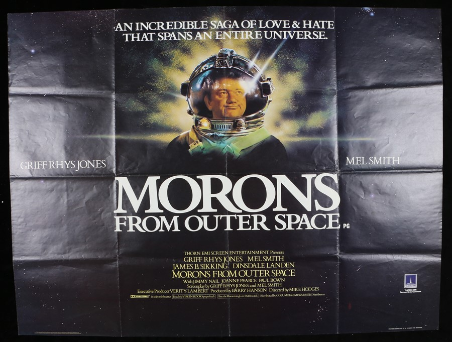 """Lot 58 - Morons From Outer Space (1985) - British Quad film posters, starring Mel Smith, folded, 30"""" x 40"""""""