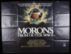 "Morons From Outer Space (1985) - British Quad film posters, starring Mel Smith, folded, 30"" x 40"""