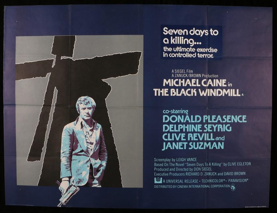 "Lot 37 - The Black Windmill (1974) - British Quad film poster, starring Michael Caine, folded, 30"" x 40"""