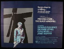 "The Black Windmill (1974) - British Quad film poster, starring Michael Caine, folded, 30"" x 40"""