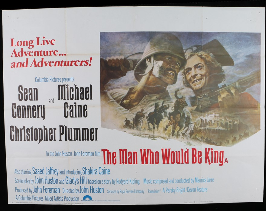 Lot 1 - The Man Who Would Be King (1975) - Britsh Quad film poster designed by Tom Jung, starring Sean