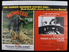 Monster (Humanoids From The Deep) & When A Stranger Calls - British Quad double-bill poster,