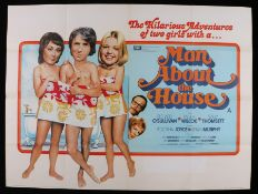 Man About The House (1975) - British Quad poster, starring Richard O'Sullivan, Paula Willcox, and