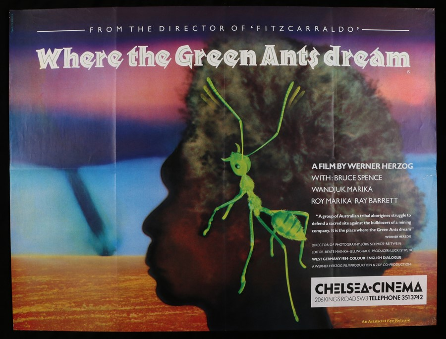 Lot 5 - Where The Green Ants Dream (1984) - British Quad film poster, designed by Paul Derrick, starring
