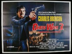 "Death Wish 3 (1985) - British Quad film poster, starring Charles Bronson, folded, 30"" x 40"""
