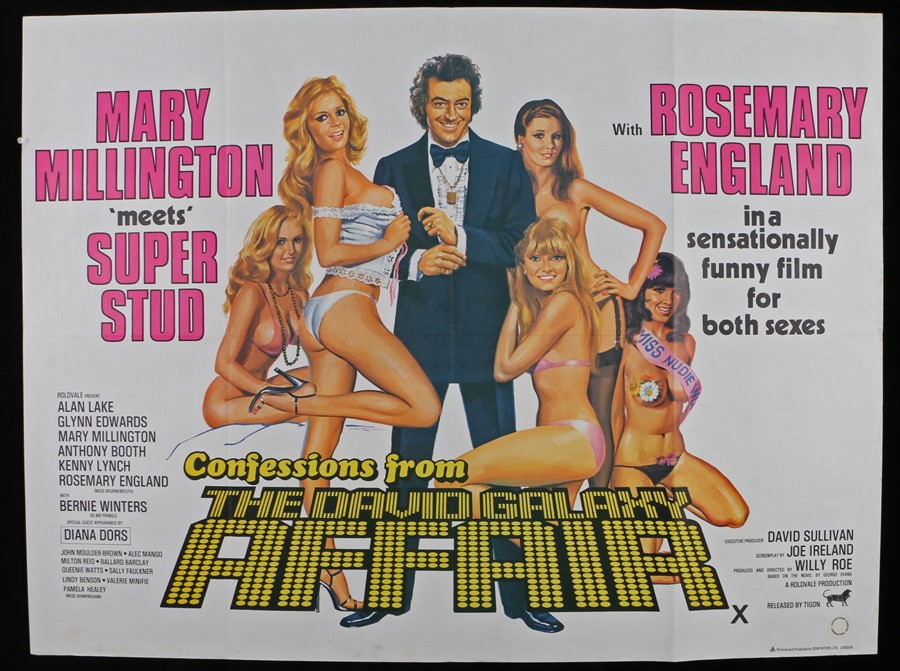 Lot 18 - Confessions from the David Galaxy Affair (1979) - British Quad film poster, starring Mary Millington