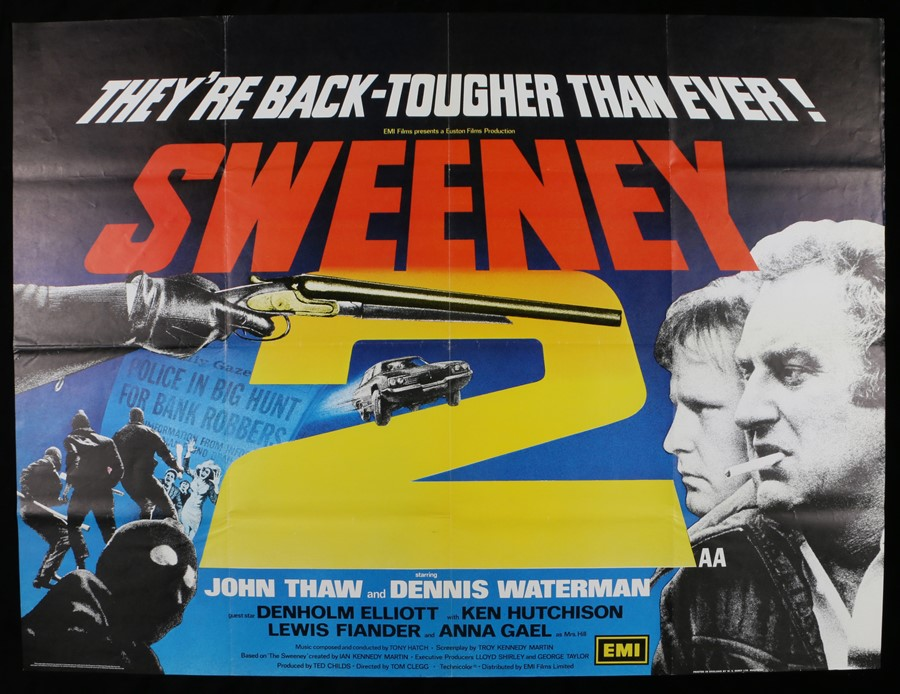 Lot 4 - Sweeney (1978) - British Quad film poster, starring John Thaw and Dennis Waterman, printed in