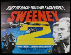 Sweeney (1978) - British Quad film poster, starring John Thaw and Dennis Waterman, printed in