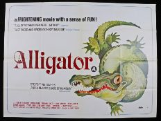 Alligator (1980) - British Quad film poster, starring Robert Forster and Robin Riker, folded, 30""