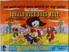 Donald Duck Goes West (1977) - British Quad film poster, also featuring Blackbeard's Ghost,