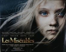 Les Misérables (2012) - British Quad film poster, starring Hugh Jackman, Russell Crowe and Anne