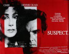 Suspect (1987) - British Quad film poster, starring Cher, Dennis Quaid and Liam Neeson, rolled,