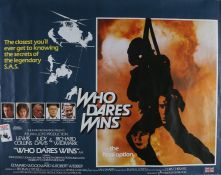 Who Dares Wins (1982) - British Quad film poster, starring Lewis Collins, Judy Davis and Richard