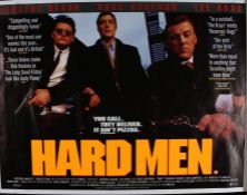 Hard Men (1997) British Quad film poster, starring Vincent Regan, Lee Ross and Ross Boatman, rolled,