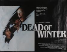Dead of Winter (1987) - British Quad film poster, starring Mary Steenburgen and Roddy McDowall,