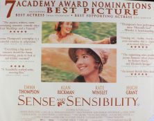 Sense and Sensibility (1995) - British Quad film poster, starring Emma Thompson, Kate Winslet and
