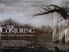 The Conjuring (2013) - British Quad film poster, starring Patrick Wilson and Vera Farmiga, rolled,