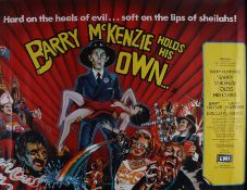 Barry McKenzie Holds His Own (1974) - British Quad film poster, starring Barry Crocker, Barry