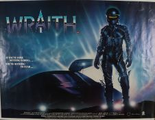 The Wraith (1986) - British Quad film poster, starring Charlie Sheen, Sherilyn Fenn and Nick