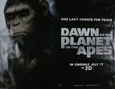 Dawn of the Planets of the Apes (2014) - British Quad film poster, starring Andy Serkis, Jason