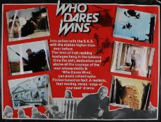 Who Dares Wins (1982) - British Quad film poster, with attached photographs of film scenes,
