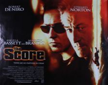 The Score (2001) British Quad film poster, starring Robert De Niro, Edward Norton and Angela
