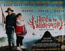 Hunt For the Wilderpeople (2016) - British Quad film poster, starring Sam Neill and Julian Dennison,