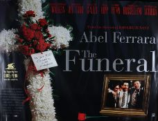 The Funeral (1996) - British quad film poster, starring Christopher Walken, Chris Penn and Annabella