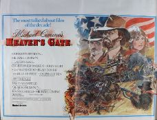Heaven's Gate (1980) - British Quad film poster, starring Kris Kristofferson, Christopher Walken and