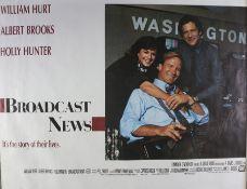 Broadcast News (1987) - British Quad film poster, starring Albert Brooks, William Hurt and Robert