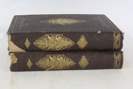 The Works of Robert Burns, two volumes, published by Blackie and Son, 1874, with gilt fern leaf