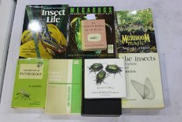 Collection of nine entomology books, to include 'The World You Never See, Insect Life' - T. R.