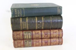 The national edition of the works of Robert Burns, two volumes, published by Cassell, Petter, Galpin