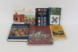 Crusades related volumes, to include Oxford Illustrated History of the Crusades, By Horse to