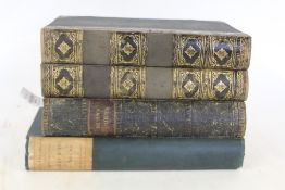 The Works of Robert Burns, two volumes, published by Blackie and Son, 1846, a complete word and