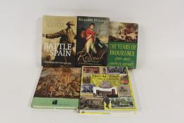 Military related books, to include Spitfire, Naval vessels, Hood and Bismark, the First World War,