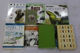 """Collection of nine entomology books, to include """"The Insects, An Outline of Entomology"""" - P.J."""