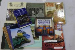Collection of eleven furniture, Roman, Greek and porcelain related books and catalogues, to