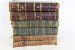 The complete works of Robert Burns, two volumes, published by Thomas C. Jack Edinburgh, another