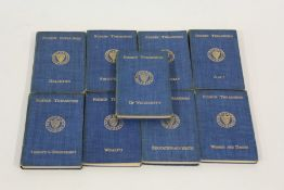 Nine Ruskin Treasuries volumes, published London 1906 by George Allan, to include art, wealth, women