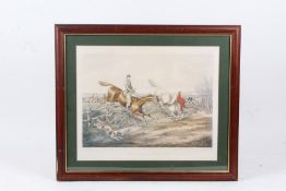 """Two Hunting prints, """"The Right and Wrong Sort or a bad style of going across country"""", both in"""