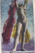 """Krys Leach, """"Rising Star (in heaven she walks)"""", signed oil on canvas, titled and dated Jan '11"""