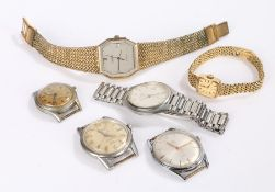 Wristwatches, to include gentlemans Certina DS, Le Cheminant Moeris Grand Prix, Avia Olympic, ladies