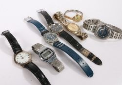 Watches to include Timex, Le Gran, Zeon, Ravel etc. (7)