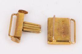 9 carat gold watch clasp, 1.3g