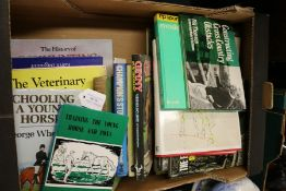 Equine related books, to include the event horse, horses from dealer to covert etc. (qty)