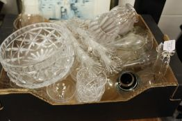 Glassware, to include two silver mounted vases, jugs, bowls, champagne bowls etc. (qty)
