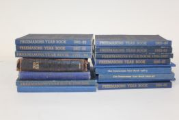 Collection of Freemasons yearbooks, various dates