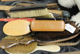 Collection of hand mirrors, brushes, page turner, folding fan etc. (qty)
